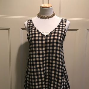 Checkered tunic tank by painted threads
